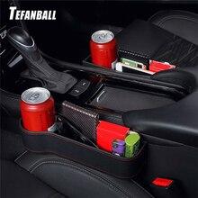 Tefanball assento do carro fenda caixa de armazenamento organizador grão lacuna fenda filler titular carteira telefone moedas cigarro bolso acessórios