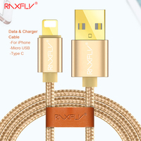 RAXFLY Micro USB Type C Cable For Samsung Galaxy S8 S8 S7 Xiaomi Redmi 4 Pro