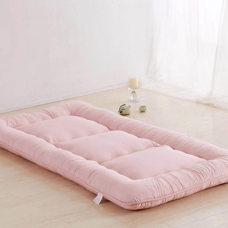 Luxury Candy Colors Tatami Mats Bed Mattress Cushion Plush Mattress Pad Bedroom Sofa Bed Chair Yoga Mattress