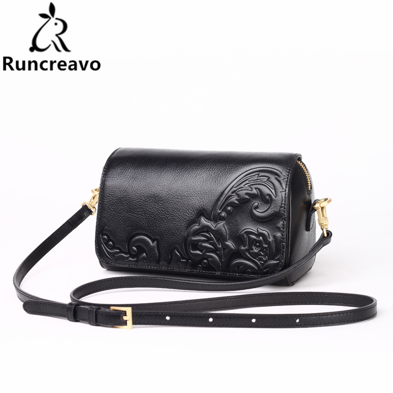 2018 New genuine leather leather embossed fashion shoulder bag ladies messenger bag bolsa feminina fashion crossbody bag