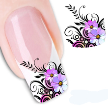 1PCS Beauty Nail Art Water Decals Transfer Stickers For Nails Blossom Flower Nail Design Manicure Tool Floral Nail Stickers