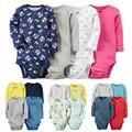 Menino conjunto de Roupas Menina 4 pcs 6pcs-Pack Bodysuit de Algodão macio para Bebes Meninos e Meninas Roupas Para Bebês definir