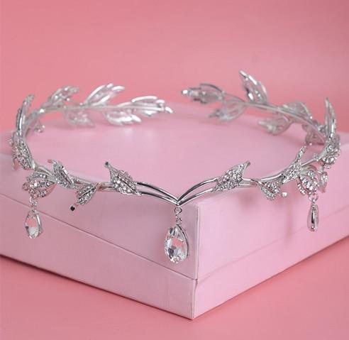 Mahkota kristal, Aksesori rambut pengantin, Berlian imitasi - Perhiasan fashion - Foto 5