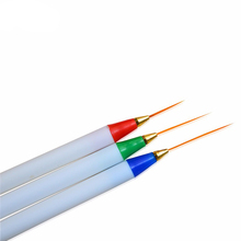 3pcs Pro Nail Brushes DIY Nail Art Drawing Striping Liner Pen Painting UV Gem Polish Nail Art Brushes Set Dotting Tool LATR29