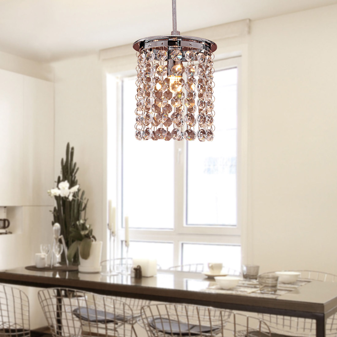 Modern Ceiling Light Dinner Room Pendant Lamp Kitchen: Crystal Light Modern Chandelier Pendant Kitchen Dining