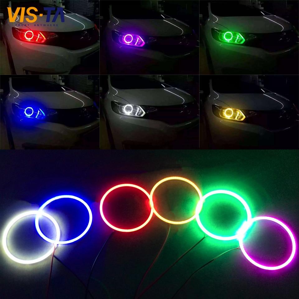 High Quality 60-140mm 7 Colors COB LED Angel Eye Headlight Universal COB LED Halo Ring F ...