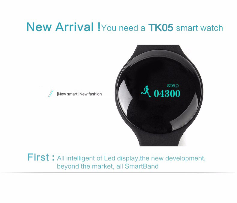 TK05 Bluetooth 4.0 Necklace Step Counter Sport Activity Fitness Tracker Smart Band Bracelet Wristband Better Than Fit Bit TW64 7