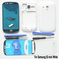 Original For Samsung S3 SIII mini GT-i8190 White Full Housing Case Cover Replacement & front glass &Adhesive& tools
