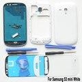 Original Para Samsung S3 SIII mini GT-i8190 Branco Habitação Completa Substituição da Tampa do Caso & vidro dianteiro & Adesivo & ferramentas