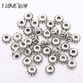 Wholesale tibetan silver Flower beads 150pcs /lot Pattern Spacer Bead for jewelry making 5*3mm hole is 2mm