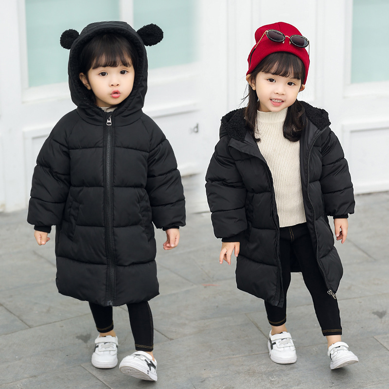 182e6b0a8 BINIDUCKLING Winter Fashion Boys Girls Coat 100% Cotton Long Thicken Parkas  Cute Rabbit Ears Hooded Kids Jacket Boys Outerwear-in Down & Parkas from  Mother ...