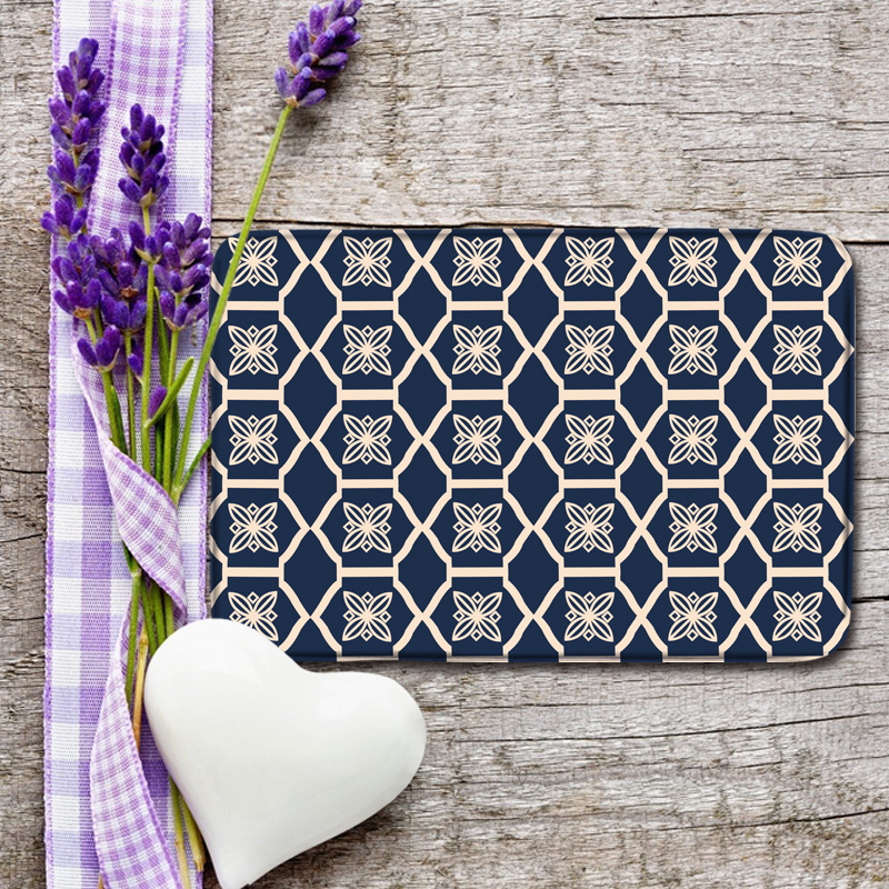 Geometric Pattern of Non Slip Bath Mat Set Modern Kitchen Mat Comfortable Rugs and Carpets for Kids Room Chic Absorbent Mats