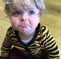 Los niños del bebé ropa niños niñas Leopardo Serie de Punto Cardigan Suéter de los Cabritos Newspring/verano/otoño/invierno de Algodón de Abrigo