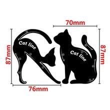 2Pcs/Set New Cat Line Eye Makeup Eyeliner Stencils Templates Makeup Tools Kits For Eye stencil
