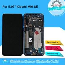 شاشة ام أند سين أصلية 5.97 بوصة لهاتف شاومي MI 9 SE Mi9 SE AMOLED شاشة عرض LCD مع إطار + محول رقمي لشاشة اللمس لشاشة MI 9SE