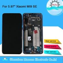 """5.97 """"オリジナル m & セン xiaomi mi 9 se Mi9 se amoled 液晶ディスプレイ画面とフレーム + タッチスクリーンデジタイザミ 9SE ディスプレイ"""