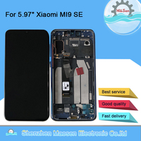 Original M&Sen For 5.97 Xiaomi MI9 SE Mi9 SE AMOLED LCD Display Screen With Frame+Touch Screen Digitizer For MI 9SE Display