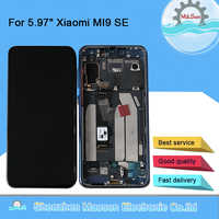 "Originale M & Sen Per 5.97 ""Xiao mi mi 9 SE mi 9 SE AMOLED Display LCD Screen Con frame + Touch Screen Digitizer Per mi 9SE Display"