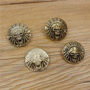 Кожаный чехол-кошелек caibu из твердой латуни для самостоятельной сборки, декоративные винты с заклепками, 3 шт./лот