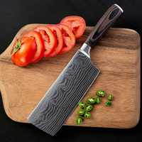 """7"""" inch kitchen knive Damascus Veins Stainless steel Vegetable knives Chef Knife 58HRC Utility Cleaver Filleting Knives Best"""