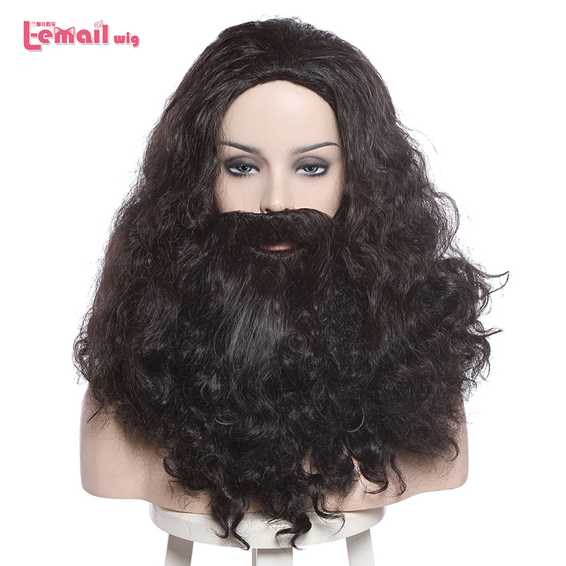 L-email Wig Albus Dumbledore Cosplay Wigs Lucius Malfoy Rubeus Hagrid Bellatrix Lestrange Moive Halloween Wig Synthetic Hair