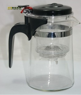 1PC Longming Home 500ml <font><b>Glass</b></font> double press teapot with filter ladder shape <font><b>glass</b></font> cup,1pc easy to use OG 0037