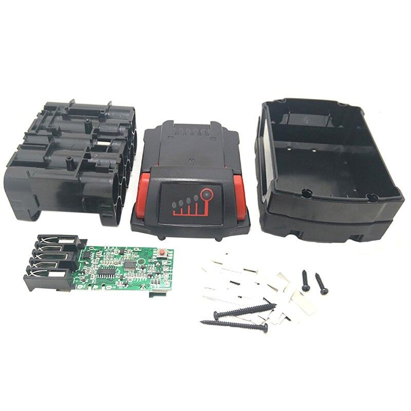 M18b li ion bateria de plástico caso de carregamento placa de circuito de proteção para milwaukee 18 v m18 48 11 1815 3ah 4ah 5ah pcb placa shel   - title=