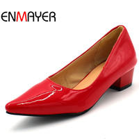 ENMAYER Newest Women Oxford Shoes Lace Up Flat Heels Platform Oxfords Shoes Spring Autumn Shoes Fashion