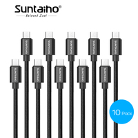 Suntaiho Micro USB Cable 10 Pack 1M 2M 3M Nylon Metal Braid USB Charger Cable Fast