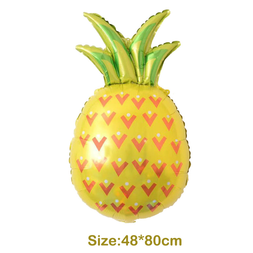 1pcs Gold Pineapple Aluminum Balloons Fruit Foil Globos Kids Toys Birthday Party Supplies Pool Party Beach Party Decoration
