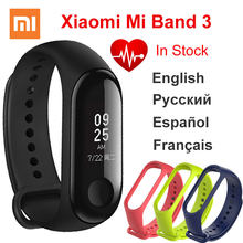 Xiaomi Mi Band 3 Miband Instant Message Caller ID Smart Bracelet Wristband Waterproof Big OLED Touch Screen Heart Rate Monitor(China)