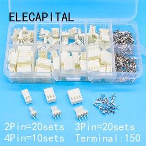 KF2510 Kits 50 sets Kit in box 2p 3p 4 pin 2.54mm Pitch Terminal / Housing / Pin Header Connectors Adaptor