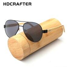 2017 hdcrafter мода пилот Bamboo Солнцезащитные очки для женщин Для мужчин Дерево Авиатор солнцезащитные очки в стиле ретро зеркало из дерева ручной работы gafas-де-сол Защита от солнца Очки