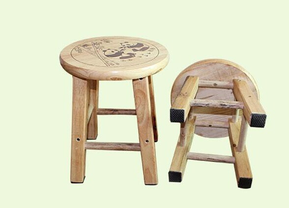 Wooden Children Chairs With Pandas Small Round Seats Stools Solid Wood Chair  Table Chair Free Shipping In Children Chairs From Furniture On  Aliexpress.com ...
