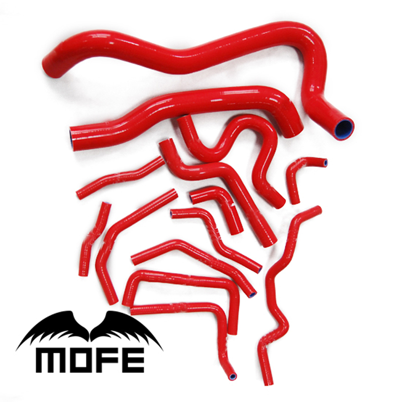 ФОТО 14PCS Original Logo Silicone Hose Kit for Honda Civic Type R FN2 2006-2010 Red