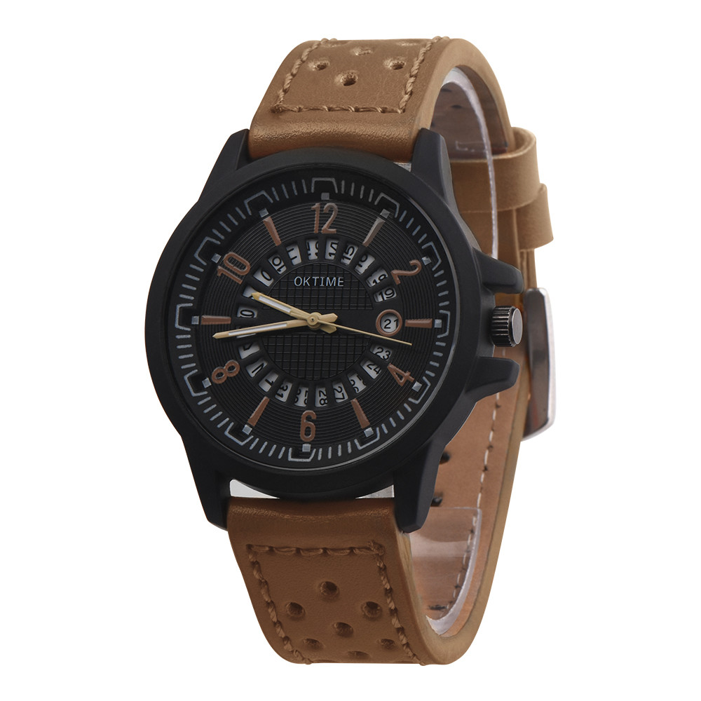 2018 Mens Roman Numerals Watches Men Luxury Leather Strap Analog Quartz Business Wrist Watch Men's Dress Clock Relogio Masculino fashion casual watch men women unisex neutral clock roman numerals wood leather band analog hour quartz wrist watches 7550114 page 8