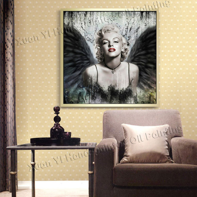 Sexy Marilyn Monroe Picture On Canvas Wall Art Black White Oil ...