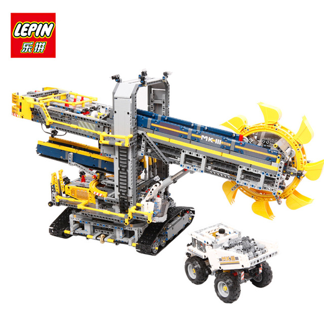 2016 New LEPIN 20015 3929Pcs Technic Bucket Wheel Excavator Model Building assemble Kit Blocks Brick Compatible Toy Gift 42055 wooden 3d building model toy gift puzzle hand work assemble game woodcraft construction kit merry christmas castel shop store