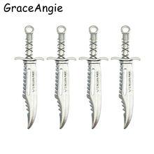 12 шт серебряный сплав кинжал для ожерелья мужской кулон подарок