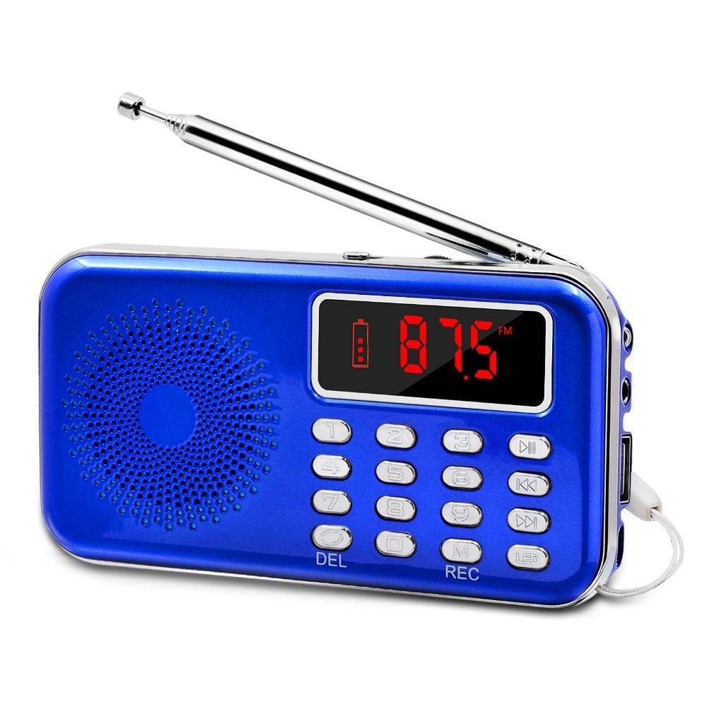 lefon portable mini radio fm receiver dab recorder mp3 player sd tf card aux led screen. Black Bedroom Furniture Sets. Home Design Ideas