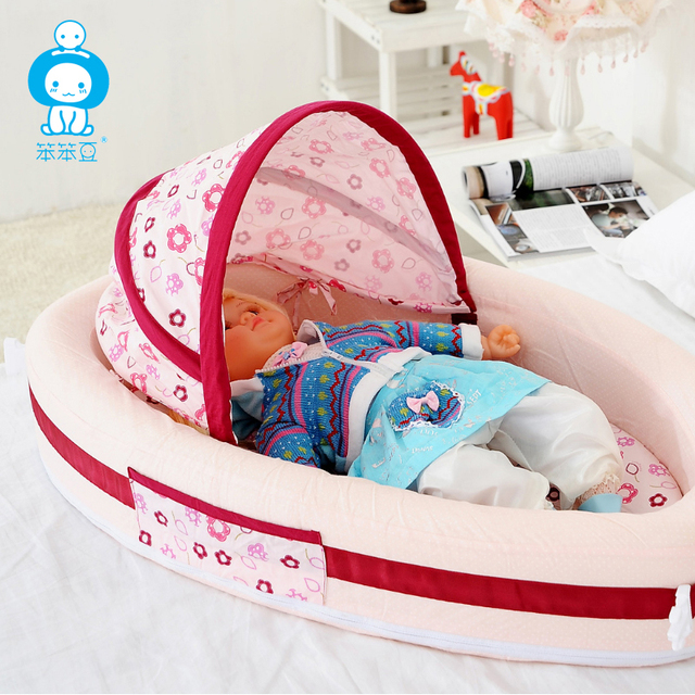 2017 Limited New Arrival Fabric Baby Bed Newborn Crib Comfortable Carrycot In Babies Sleep Basket Sponge