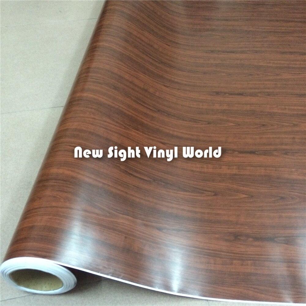Bois de rose vinyle Wrap bois Grain texturé décalcomanie vinyle Film autocollant Interier décoration taille: 1.52X20 m/rouleau