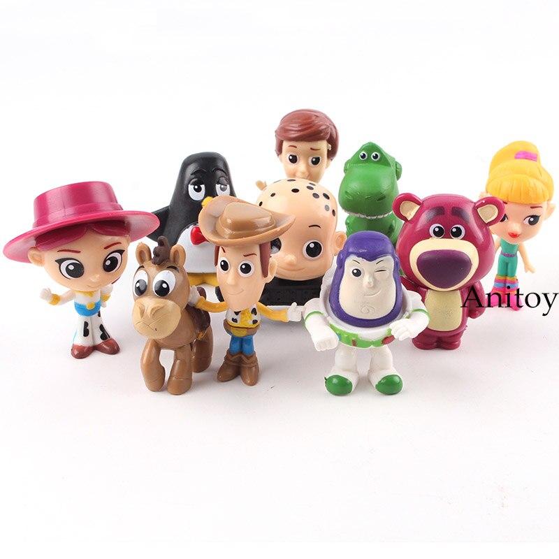 Toy Story Toy Woody Buzz lightyear Jessie Rex Bullseye