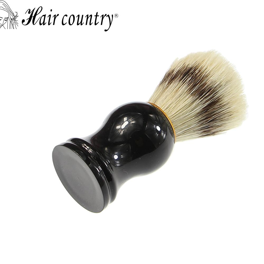 Hair Country High Quality Men Shaving Brush Pure Badger Brushes Barbear Resin Handle Brocha Hair Knot