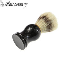 Hair Country High Quality Men Shaving Brush Pure Badger Brushes Barbear Resin Handle Brocha Hair Knot Beard Brush for Mens Bear