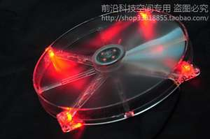 Controllable Cooling-Fan FREEZEMOD 200mm for Use. FAN-T20 Measurable LED Transparent