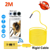 8mm OD 1200P 2MP WIFI USB Endoscope Camera Android IPhone 2M Snake Rigid Cable USB Wirless