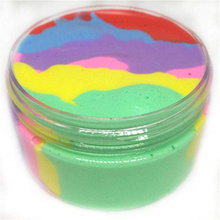 60ML/100ML Lizun Rainbow Color Fluffy Slime Clay polymer Plasticine Stress Relief Interesting Toy additives for slices Kids Gift