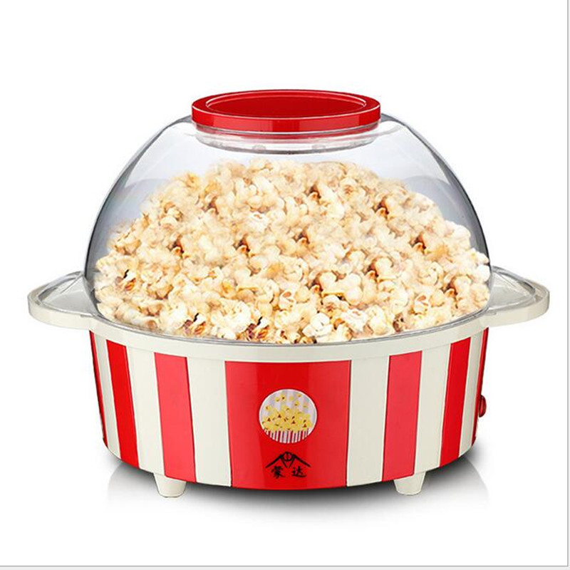 220V 850W 5L Electric Automatic Popcorn Maker DIY Popcorn Machine 3 Minutes Finish 99% Nano Non-stick Coating For Children Gifts pop 06 economic popcorn maker commercial popcorn machine with cart