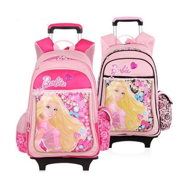 Aliexpress.com : Buy Barbie cartoon trolley/wheels school bags ...